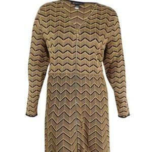 INC Chevron Sweater Dress